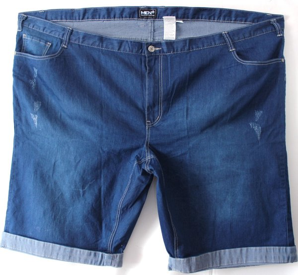 Herren Jeansbermuda  Men Plus  Blau  Gr. 70  6XL   NEU